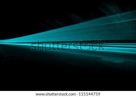 Interesting and abstract blue-green lights that can be used as background or texture - stock photo