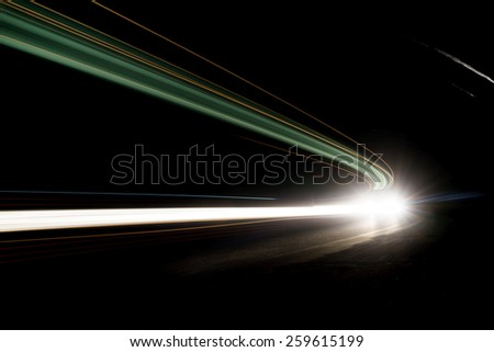 Interesting and abstract lights in green and white color that can be used as background or texture - stock photo