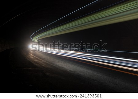Interesting and abstract lights in green, yellow and white that can be used as background or texture
