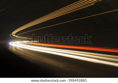 Interesting and abstract lights in orange, red, yellow and white that can be used as background or texture - stock photo