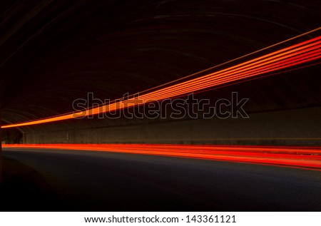 Interesting and abstract lights in red that can be used as background or texture - stock photo