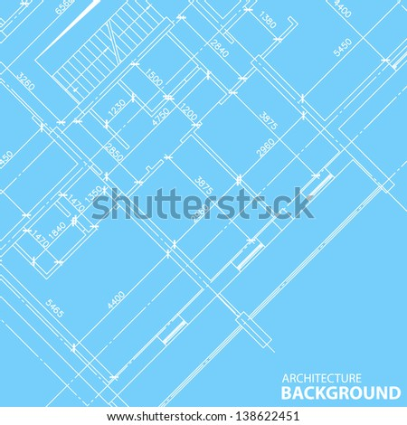 Interesting architectural background in unique style - stock photo