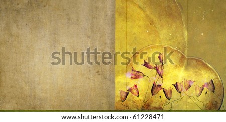 interesting background image with floral elements. useful design element. - stock photo