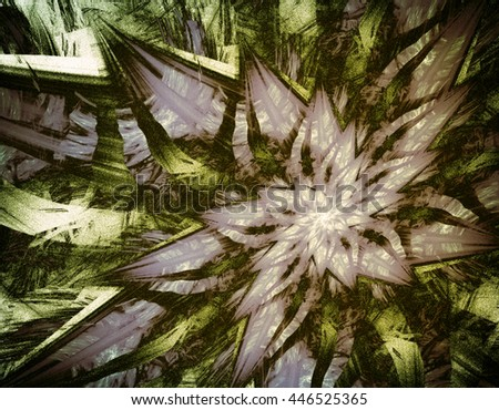 Interesting intriguing abstraction - pattern with shiny elements, with holiday spirit. Playful abstraction. The autumn   texture, abstract background.  The effect of grain - stock photo