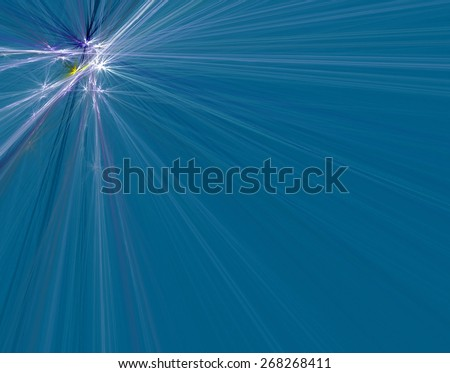 Interesting photo of radiation of the quantums, generated by the computer program - stock photo