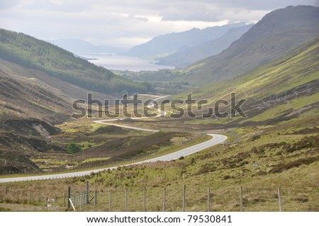 interesting view of the valley in Scotland