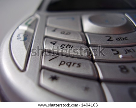interface of a mobile phone - study of a form and design, silver mate finishing - stock photo