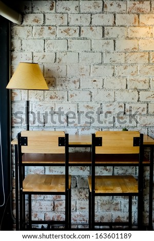 Interior and decoration of a coffee shop, cafe - stock photo