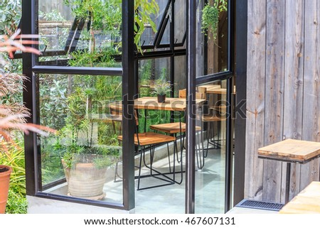 Interior and decoration of a coffee shop, coffee cafe