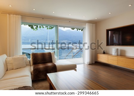 Interior architecture, modern living room - stock photo