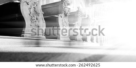 Interior basilica. Great soot. Great details - stock photo