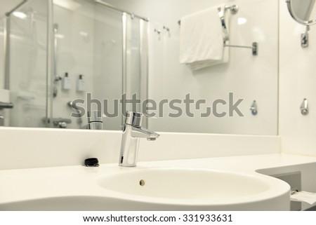 Interior bathroom - stock photo