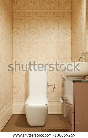 interior beauty center, bathroom - stock photo
