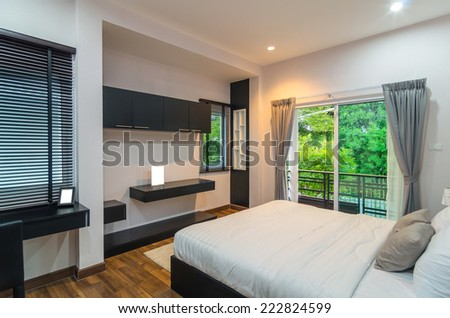 Interior bedroom - stock photo