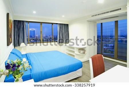 Interior bedroom - stock photo