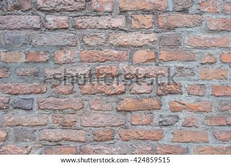 Interior Brick Wall.Brick Wall Modern.Brick Wall Grouted.Brick Wall Texture.Brick Wall Detail.Luxury Interior Wall.Repaired Brick Wall.Reconstruction Brick Wall.Wall Wallpaper. - stock photo