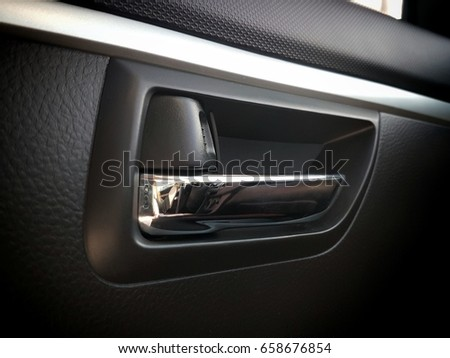Interior Car Door Handle Auto Lock Stock Photo Royalty Free 658676854 Shutterstock