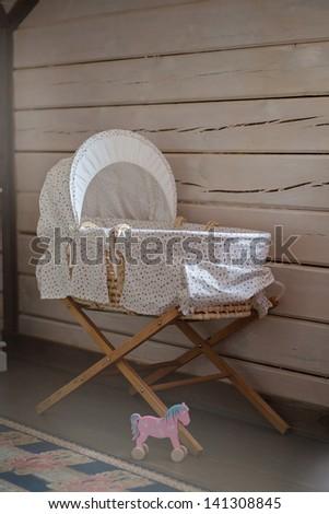 Interior. Child bed. - stock photo
