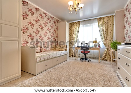 interior children's room without people - stock photo