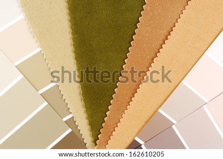 interior color design material choice - stock photo