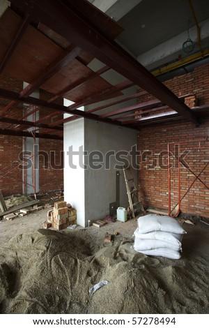 Interior construction site - stock photo