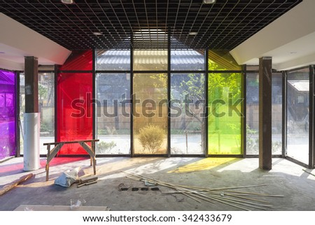 Interior construction sites - stock photo