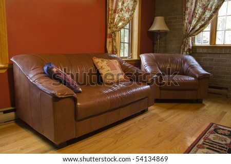 interior decor of a warm living room