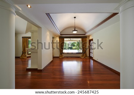 Interior design: Big empty living room - stock photo