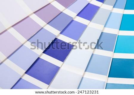 interior design - colorful paper palette with vivid colors - stock photo