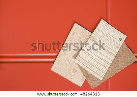 Interior Design Concepts. Samples of various texture. - stock photo