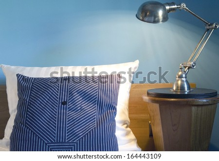 Interior design detail of a luxury hotel room - stock photo