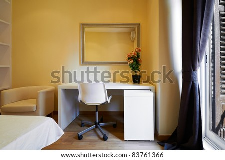 Interior Design: Empty Hotel room closeup - stock photo