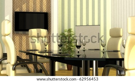 Interior design for executive meeting room