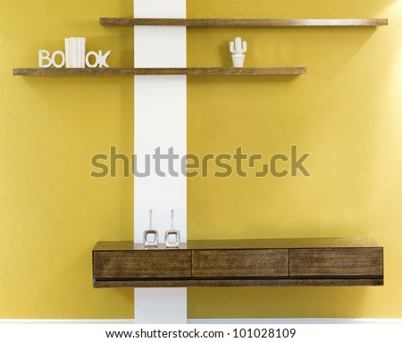 Interior design in a new house. - stock photo