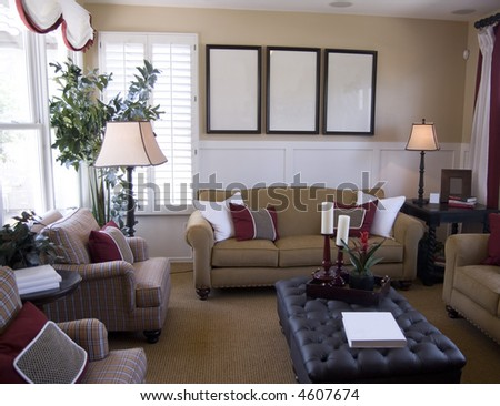 Interior Design in modern Upscale Home - stock photo