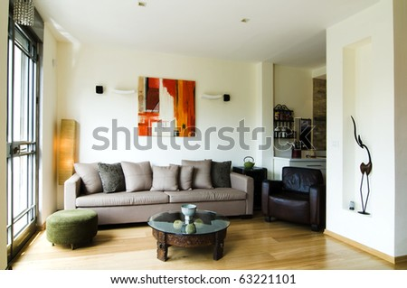 Interior design living room - stock photo