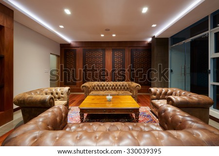 Interior Design: Luxurious and elegant office - stock photo