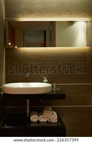 Interior design: Modern bathroom - stock photo