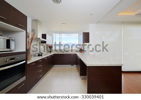 Interior design: Modern kitchen - stock photo