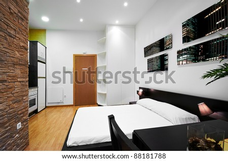 Interior Design: Modern Studio - stock photo