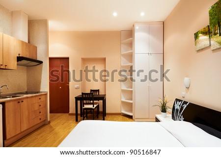 Interior design: Modern Studio Apartment - stock photo