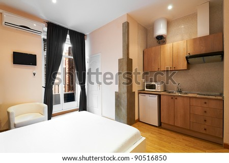 Interior design: Modern Studio Apartment - stock photo