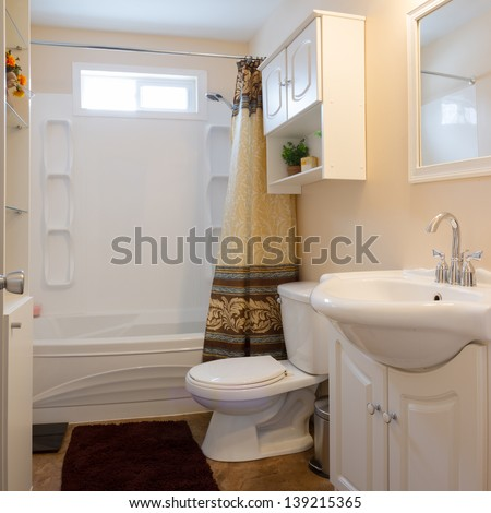 Interior design of a bathroom  in new house
