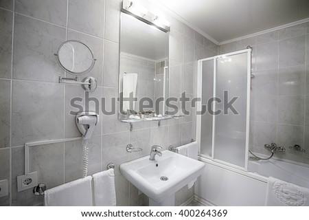 Public Bathroom Mirror public restroom mirror stock photos, royalty-free images & vectors
