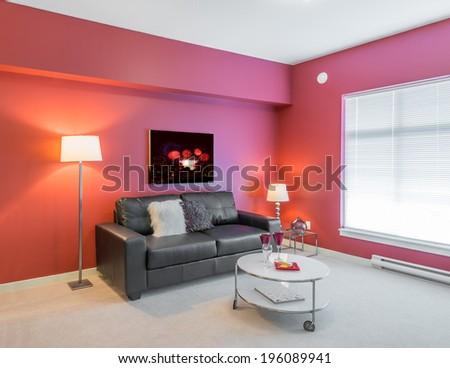 Interior design of a luxury living room stock photo