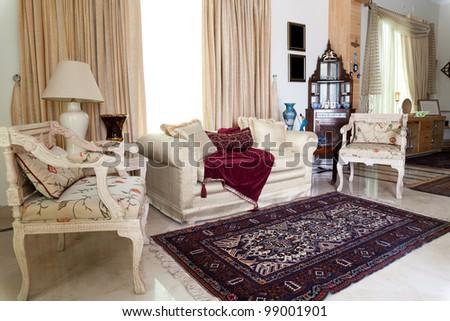 interior design of a sitting room - stock photo