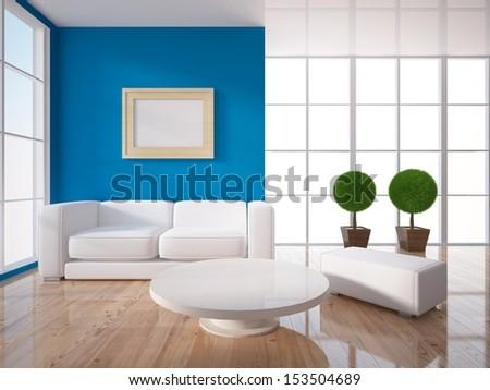 interior design of living room - stock photo