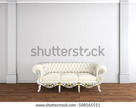 interior design of living room with sofa 3D illustration