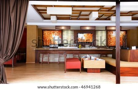 Interior design - Restaurant - stock photo