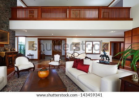 Interior design series: classic living room. BIG HOUSE - stock photo